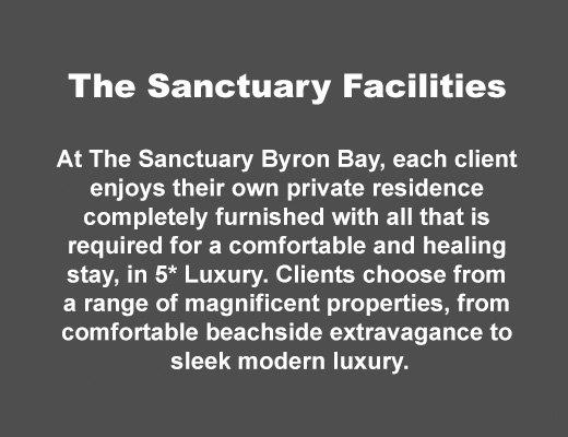 Sanctuary Byron Bay Facility List