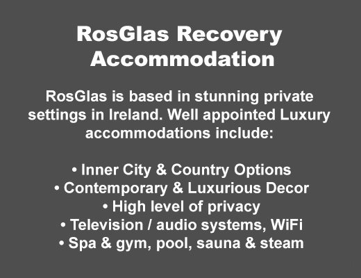 Rosglas Recovery Accommodation Examples