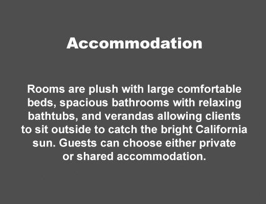 Accommodation at Seasons in Malibu Rehab